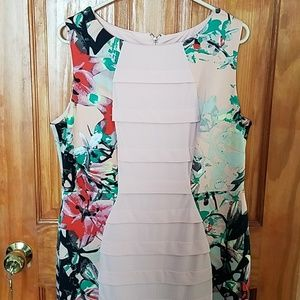 Floral panel dress by dress barn